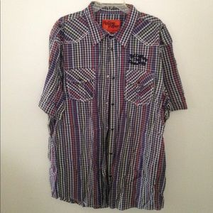 Other - Rolling Paper Short Sleeve Plaid Shirt 4X